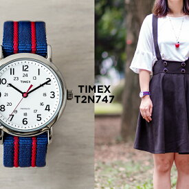 TIMEX タイメックス ウィークエンダー 38MM メンズ T2N747 腕時計 時計 ブランド レディース ミリタリー アナログ ネイビー ホワイト 白 ナイロンベルト ギフト プレゼント