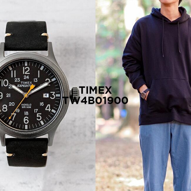 TIMEX EXPEDITION SCOUT METAL タイメックス エクスペディション スカウト メタル TW4B01900 腕時計 メンズ レディース アウトドア アナログ シルバー ブラック 黒 レザー 革ベルト