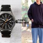 TIMEXタイメックスエクスペディションスカウト40MMTW4B01900腕時計メンズレディースミリタリーアナログシルバーブラック黒レザー革ベルト