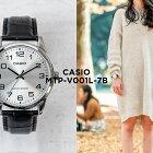 CASIOSTANDARDANALOGUEMENSカシオスタンダードアナログメンズMTP-V001L-7B腕時計レディースチープカシオチプカシプチプラシルバーブラック黒レザー革ベルト日本未発売