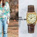 【10年保証】CASIO カシオ スタンダード レディース LTP-V001GL-9B 腕時計 キッズ 子供 女の子 チープカシオ チプカシ アナログ ゴールド 金 ブラウン 茶 レザー 革ベルト 海外モデル