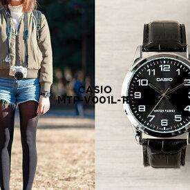 b2a07f2f64 【10年保証】CASIO カシオ スタンダード メンズ MTP-V001L-1B 腕時計 レディース