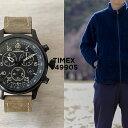 TIMEX タイメックス エクスペディション フィールド クロノグラフ 43MM T49905 腕時計 メンズ ミリタリー アナログ ブラック 黒 ブラウン 茶 レザー 革ベルト
