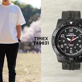 【日本未発売】TIMEX タイメックス エクスペディション ラギッド コア アナログ 43MM T49831 腕時計 メンズ ミリタリー ブラック 黒 海外モデル