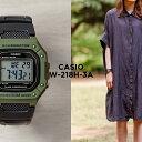 【10年保証】CASIO カシオ スタンダード W-218H-3A 腕時計 メンズ レディース キッズ 子供 男の子 女の子 チープカシオ チプカシ デジタル 日付 カーキ ブラック 黒 海外モデル