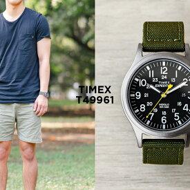 TIMEX タイメックス エクスペディション スカウト 40MM T49961 腕時計 時計 ブランド メンズ レディース ミリタリー アナログ カーキ ブラック 黒 ナイロンベルト ギフト プレゼント