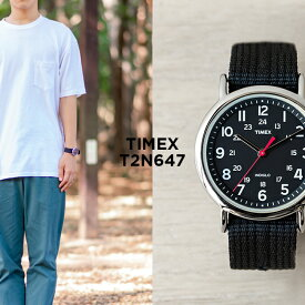 TIMEX タイメックス ウィークエンダー 38MM メンズ T2N647 腕時計 レディース ミリタリー アナログ シルバー ブラック 黒 ナイロンベルト