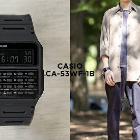【10年保証】CASIO カシオ スタンダード CA-53WF-1B 腕時計 時計 ブランド メンズ レディース キッズ 子供 男の子 女の子 チープカシオ チプカシ デジタル 日付 カレンダー データバンク ブラック 黒 ギフト プレゼント