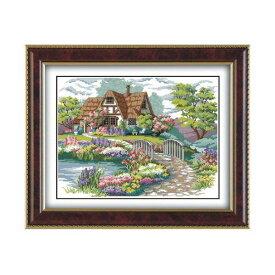 クロスステッチ 刺繍キット 美麗庭と家 クロスステッチキット クロスステッチ ししゅう糸 刺繍糸 刺繍針 刺繍キット