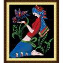 クロスステッチ 刺繍キット 民族少女と蝶々