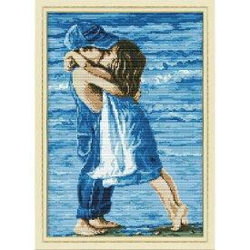 クロスステッチ 刺繍キット 海辺のリトルキッズラブ クロスステッチキット クロスステッチ ししゅう糸 刺繍糸 刺繍針 刺繍キット