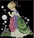 クロスステッチ刺繍キット シャボン玉少女