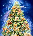 カラービーズ ストーン画 クリスマスツリーベアー DIY