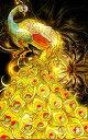 カラービーズ ストーン画 5D黄金孔雀