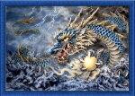 クロスステッチ刺繍キット怒海ドラゴン図柄印刷9080