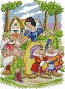 クロスステッチ 刺繍キット  布地に図柄印刷 DMC糸 白雪姫と7人の小人