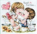 クロスステッチ刺繍キット sweet first kiss(DMC刺繍糸) k474