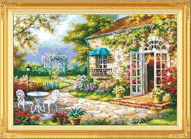クロスステッチ刺繍キット 欧州花庭園 図柄印刷 クロスステッチキット クロスステッチ ししゅう糸 刺繍糸 刺繍針 刺繍キット