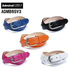 【ポイント10倍】AdmiralGolf/アドミラルゴルフ合皮 イントレ柄ベルト ADMB6SV3ホワイト/ブラック/ネイビー/オレンジ/ピンク