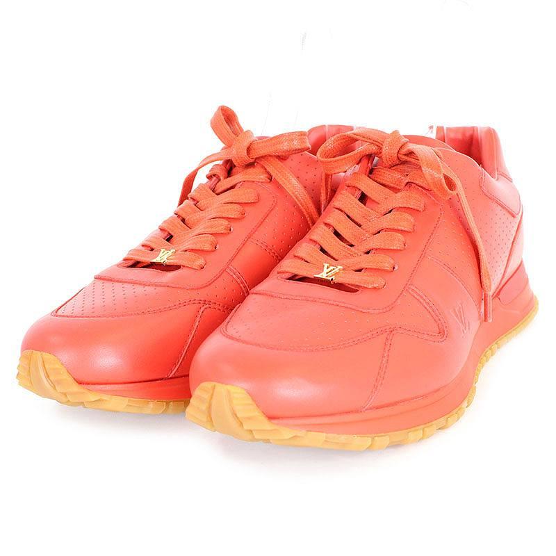 シュプリーム/SUPREME ×ルイヴィトン 【17AW】【LV Run Away Sneaker】×LOUIS VUITTONレザースニーカー(8/レッド)【HJ08】【メンズ】【小物】【401171】【中古】bb131#rinkan*S