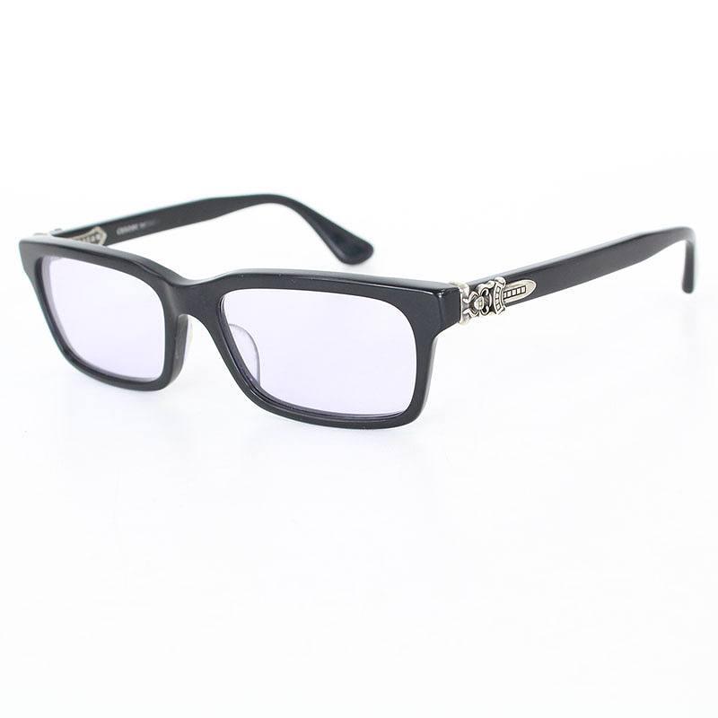 クロムハーツ/Chrome Hearts 【RUMPLEFORESKIN-A】サイドダガー装飾眼鏡((フレーム)ブラック×シルバー(レンズ)クリアパープル)【07】【小物】【121171】【中古】SS07bb27#rinkan*B