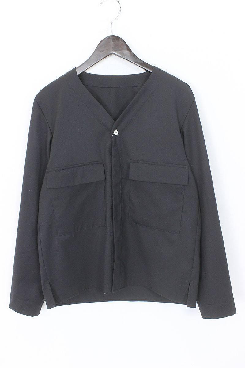 ネーム/Name 【16SS】ノーカラーウールシャツ(0/ブラック)【BS99】【メンズ】【202171】【中古】【P】[less][5倍]bb14#rinkan*B