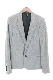 ディオールオム/Dior HOMME 【06SS】ピークドラペル1B千鳥格子テーラードジャケット(44/グレー調)【SB01】【メンズ】【200191】【中古】bb10#rinkan*A