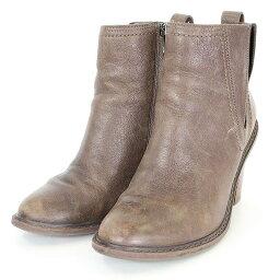 克拉克/Clarks皮革短長筒靴(7.5/棕色)BS99bb15#rinkan*B