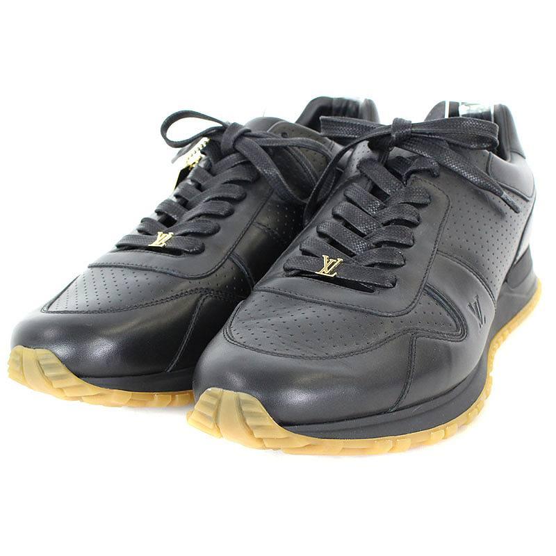 シュプリーム/SUPREME ×ルイヴィトン/LOUISVUITTON 【17AW】【LV Run Away Sneaker】レザースニーカー(10.5/ブラック)【SB01】【メンズ】【小物】【101081】【中古】bb152#rinkan*S