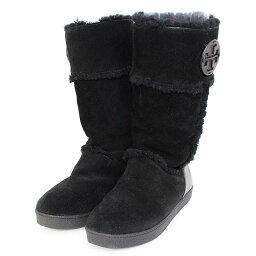 toribachi/TORY BURCH羊皮長長筒靴(黑色)bb91#rinkan*B
