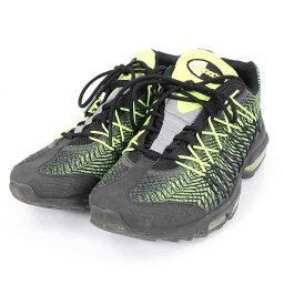 耐吉/NIKE[AIR MAX 95 ULTRA JACQUARD]空氣最大95超提花機運動鞋(27.5cm/黑色×淡綠)[BS99][人人][小東西][925081][中古]bb81#rinkan*..