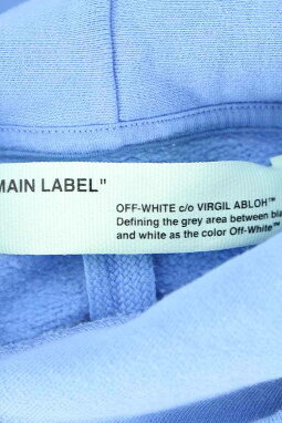 オフホワイト/OFF-WHITE【18AW】【LIGHTHOODIE】リバティープリントプルオーバーパーカー(L/ブルー)【NO05】【メンズ】【306081】【中古】bb20#rinkan*N-