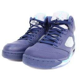 耐吉/NIKE[AIR JORDAN 5 RETRO PRE GRAPE 136027-405]空氣喬丹5重新流行之前葡萄運動鞋(28cm/深藍)[BS99][人人][小東西][916081][中古]..