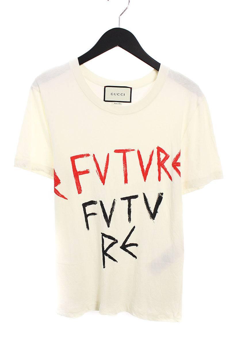 グッチ/GUCCI 【17SS】【440104 X3F96】FUTUREトプリントTシャツ(XS/ホワイト)【SB01】【メンズ】【226081】【中古】【P】bb154#rinkan*B