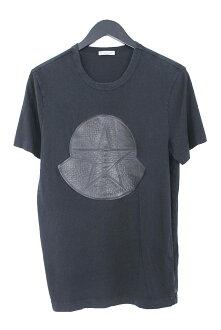 Monk rail /MONCLER star logo patch T-shirt (S/ black) bb10#rinkan*B
