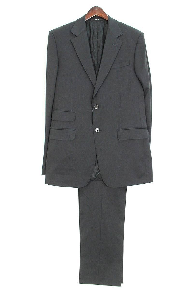 グッチ/GUCCI ノッチドラペル2Bジャケットセットアップスーツ(48/ブラック)【BS99】【メンズ】【502091】【中古】bb33#rinkan*B