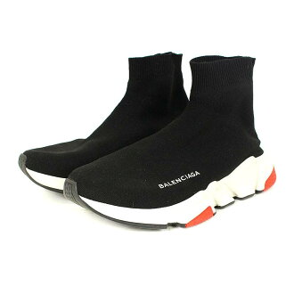 f693c600c42c4 バレンシアガ  BALENCIAGA speed trainer socks sneakers (39  black X white X red)  bb33 rinkan B