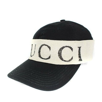 Gucci  GUCCI logo headband baseball cap (M 58  black X off-white)  bb198 rinkan B belonging to dc7b83b19cb