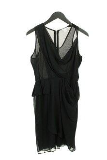 Diane phone Fass ten Bergh /DIANE von FURSTENBERG drape design stretch dress (4/ black) [less]bb30#rinkan*A