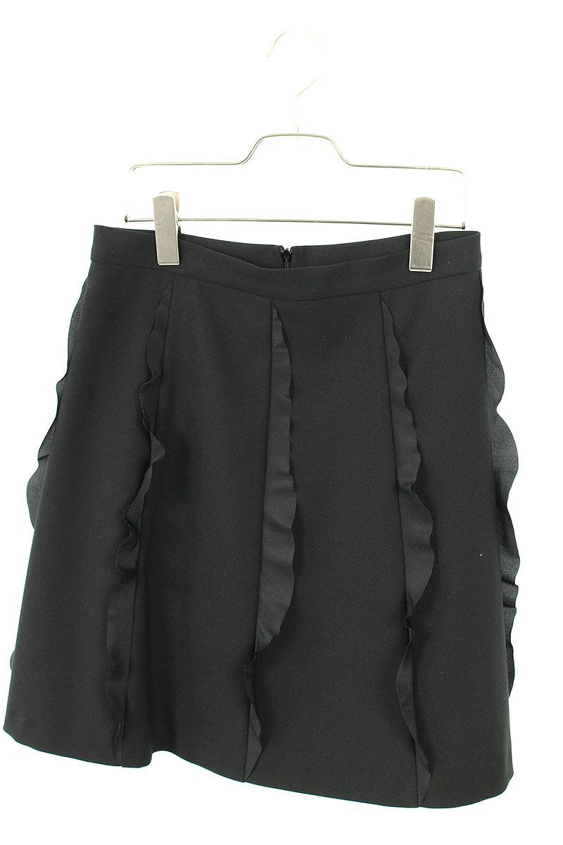 レッドヴァレンティノ/RED VALENTINO フリルデザインスカート(40/ブラック)【BS99】【レディース】【913091】【中古】bb30#rinkan*A