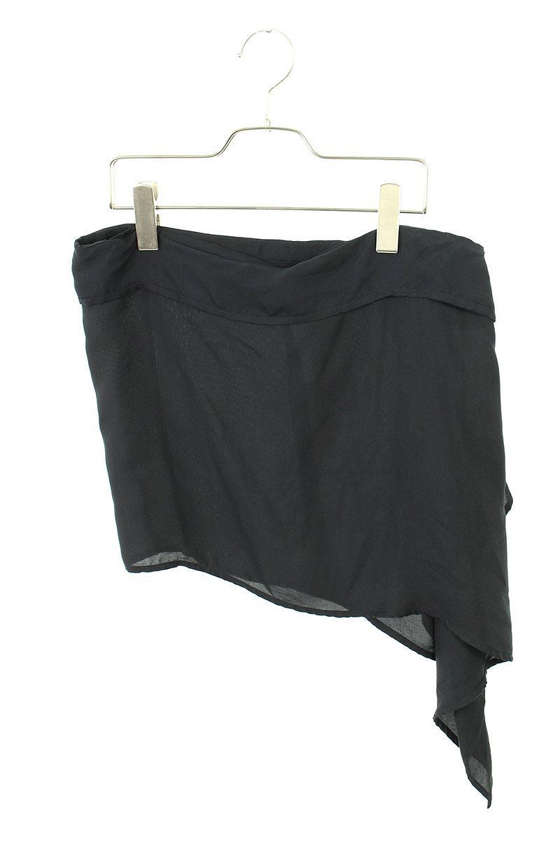 アンドゥムルメステール/ANN DEMEULEMEESTER フリルボタンスカート(38/ブラック)【BS99】【レディース】【913091】【中古】bb51#rinkan*B