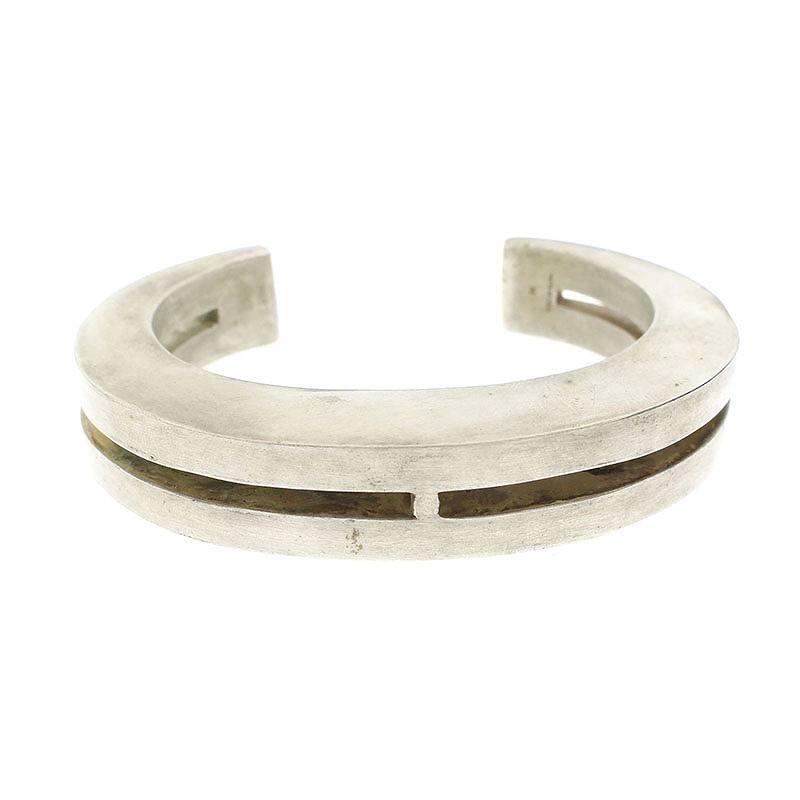 パーツオブフォー/PARTS OF FOUR 【Crescent Bracelet】スリップオンアルミバングル(シルバー調/58.59g)【SB01】【小物】【524091】【中古】bb156#rinkan*B