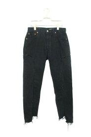 オールドパーク/OLD PARK ×ザレターズ 【Western Jeans.】リーバイス再構築デニムパンツ(S/ブラック)【BS99】【メンズ】【607091】【中古】[5倍]bb30#rinkan*B