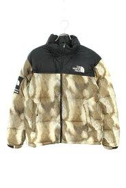 シュプリーム/SUPREME ×ノースフェイス/THE NORTH FACE 【13AW】【Fur Print Nuptse Jacket】ファープリントヌプシダウンジャケット(M/ブラウン調×ブラック)【SB01】【メンズ】【122191】【中古】bb169#rinkan*B