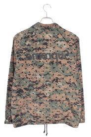 シュプリーム/SUPREME ×コムデギャルソンシャツ/COMME des GARCONS SHIRT 【13SS】【 Dot Camo Mirror Logo Coaches Jacket】ドットデジカモ柄ミラーバックロゴコーチジャケット(M/グリーン調)【SB01】【メンズ】【911002】【中古】bb35#rinkan*B