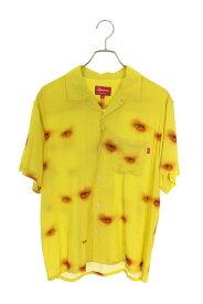 シュプリーム/SUPREME サイズ:S 【19AW】【Eyes Rayon S/S Shirt】アイプリントレーヨン開襟半袖シャツ(イエロー)【BS55】【メンズ】【817002】【中古】bb223#rinkan*A
