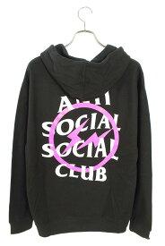 アンチソーシャルソーシャルクラブ/ANTI SOCIAL SOCIAL CLUB 【Fragment x Assc Pink Bolt Hoodie】ロゴプリントプルオーバーパーカー(XXL/ブラック×ホワイト×ピンク)【HJ12】【メンズ】【123002】【中古】bb134#rinkan*B