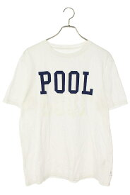 プールアオヤマ/the POOL aoyama サイズ:M ロゴプリントTシャツ(ホワイト×ブルー)【BS99】【メンズ】【811102】【中古】bb131#rinkan*B