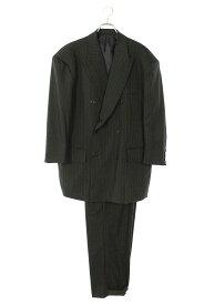 シュウ/SYU サイズ:2 【20SS】【H20ss-12】ストライプダブルジャケットスーツ(ブラック調)【BS99】【メンズ】【511012】【中古】bb131#rinkan*A