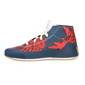 アディダスバイステラマッカートニー/adidas by Stella McCartney サイズ:25cm 【Treino Mid S. Printed FY1641】フラワー柄スニーカー(ネイビー×レッド)【BS99】【レディース】【小物】【804012】【中古】bb324#rinkan*S